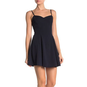 Love...Ady Lace-up Sweetheart Neck Swing Dress